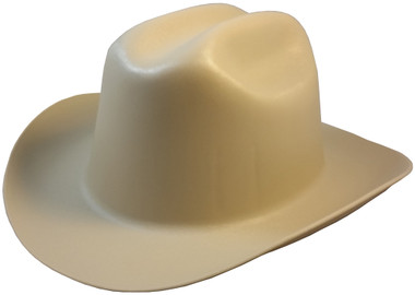 Outlaw Cowboy Hardhat with Ratchet Suspension Tan Obique View
