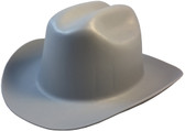Outlaw Cowboy Hardhat with Ratchet Suspension Gray Obique View