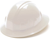 Pyramex 4 Point Full Brim Style with RATCHET Suspension White - Oblique View