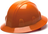 Pyramex 4 Point Full Brim Style with RATCHET Suspension Orange - Oblique View