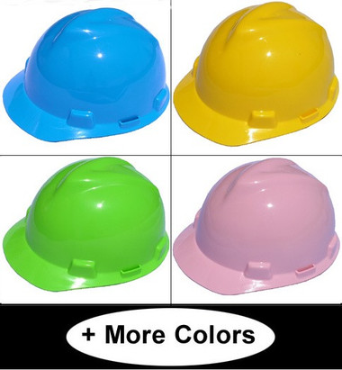 MSA V-Gard Cap Style Hard Hats w/ Staz-On Suspensions