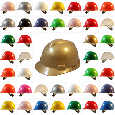 MSA V-Gard Cap Style Hard Hats with Swing Suspensions