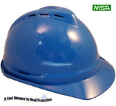 MSA Advance Vented Hard Hats  Blue