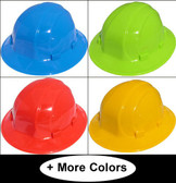 ERB Omega II Full Brim Hard Hats With Ratchet Suspension (All Colors)