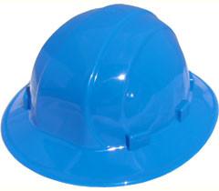 ERB Omega II Full Brim Hard Hats w/ Ratchet Blue pic 1