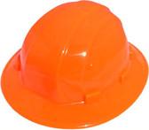 ERB Omega II Full Brim Hard Hats w/ Ratchet Hi Viz Orange pic 1