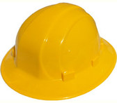 ERB Omega II Full Brim Hard Hats w/ Pin-Lock Yellow pic 1