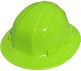ERB Omega II Full Brim Hard Hats w/ Pin-Lock Hi Viz Lime pic 1