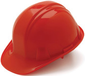Pyramex 4 Point Cap Style Hard Hats with RATCHET Suspension Red  - Oblique View