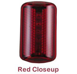 ERB Hard Hat Safety Lights ~ Red