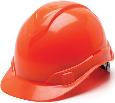 Pyramex Ridgeline Cap Style Hard Hats Hi Viz Orange - Oblique View