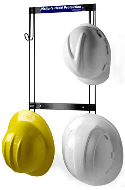 Hard Hat, Coat, Purse and Fall Protection Rack