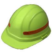 Orange 360 Degree Wrap Around Sticker for Hard Hats Pic 1