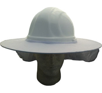 Occuomix STOW-AWAY White Hard Hat Shade pic 1