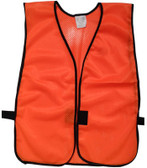 Orange Soft Mesh Plain Safety Vests