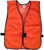 Orange Soft Mesh Plain Safety Vests