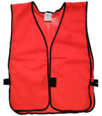 Hi Viz Red Soft Mesh Plain Safety Vest  pic 2