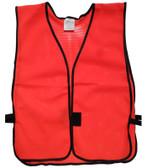 Hi Viz Red Soft Mesh Plain Safety Vest  pic 2