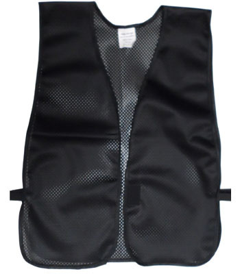 Black Soft Mesh Plain Safety Vest  pic 2