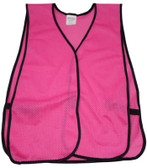 Hot Pink Soft Mesh Plain Safety Vest pic 2