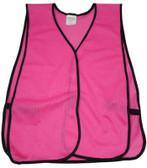 Hot Pink Soft Mesh Plain Safety Vest pic 2