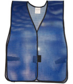 PVC Coated Plain Safety Vest Dark Blue pic 2