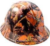 American Camo Orange Full Brim Style Hydro Hard Hats