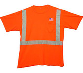 Class Two Level 2 ORANGE Safety SHIRTS with Silver Stripes Pic 3