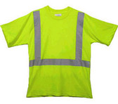 Class Two Level 2 LIME safety MESH SHIRTS with Silver Stripes Pic 3