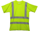 Class Three Level 2 LIME Safety SHIRTS with Silver Stripes Pic 3