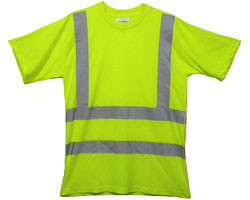 Class Three Level 2 LIME Safety MESH SHIRTS with Silver Stripes Pic 3