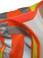 Lime Class II MESH First Responder Safety Vest ~ Orange/Silver Stripes and 5 Point Tear-Away shoulder pic 1