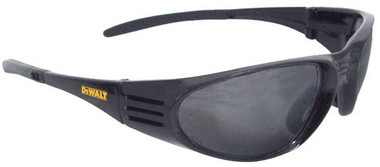 Dewalt Ventilator ~ BLACK Frame Safety Glasses ~ With Smoke Lens