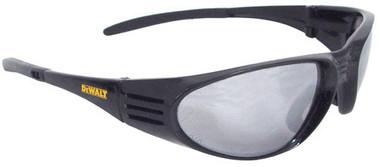 Dewalt Ventilator ~ BLACK Frame Safety Glasses ~ With Silver Mirror Lens