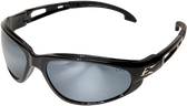 Wolverine (Dakura) Safety Glasses ~ Black Frame with Silver Mirror Lens