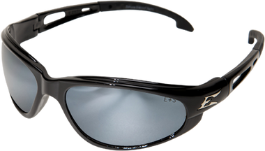 Wolverine (Dakura) Safety Glasses ~ Black Frame with Silver Mirror Lens