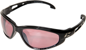 Wolverine (Dakura) Safety Glasses ~ Black Frame with Rose Mirror Lens