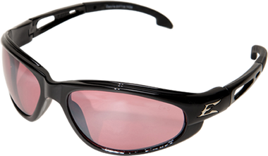 Wolverine (Dakura) Safety Glasses ~ Black Frame with Rose Mirror Lens