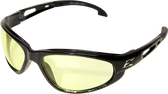 Wolverine (Dakura) Safety Glasses ~ Black Frame with Yellow Lens
