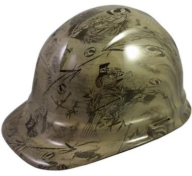 POW Khaki Hydro Dipped Hard Hats Cap Style