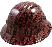 Pink Flame Hydro Dipped Hard Hats Full Brim Style
