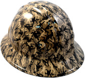 Army Men Khaki Hydro Dipped Hard Hats Full Brim Style