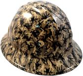 Army Men Khaki Hydro Dipped Hard Hats Full Brim Style
