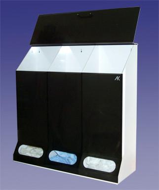 3 Compartment Multi-Purpose Dispenser Smoke Acrylic  Pic 1
