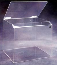 Plastic Clear Container Bin 12x11x12  Pic 1