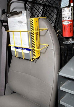 MSDS Binder Over-the-Seat Notebook Rack Pic 1