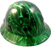 Venom Snake Green Hydro Dipped Hard Hats Full Brim Style
