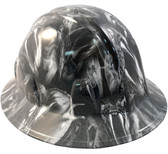 Venom Snake White Hydro Dipped Hard Hats Full Brim Style
