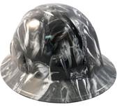 Venom Snake White Hydro Dipped Hard Hats Full Brim Style