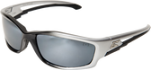 Edge Kazbek Safety Glasses ~ Black Frame, Silver Mirror Lens